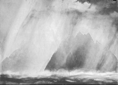 Study of Sun and Rain Skellig Rocks