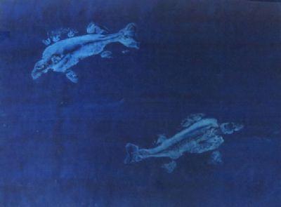 Two Perch II, Monoprint
