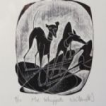 NEIL BOUSFIELD Engravings  Me Whippets