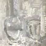 Silver flask old wine glass - OLIVER SOSKICE