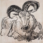 GERTRUDE HERMES Wood-engravings, Linocuts & Drawings The Ram 1958