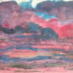 NORMAN ADAMS RA (1927-2005) THE ESSENCE OF LANDSCAPE Pink Sky